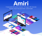 Amiri Unlimited Responsive Multi-Purpose DNN Theme (V1.1.0) / Drag & drop builder / 15 designs
