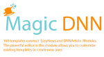 Magician : 160 templates connect to EasyDNNnews and DNNArticle Modules