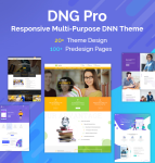 DNGPro Unlimited Responsive Multi-Purpose DNN Theme (V3.3.0) / Drag & drop builder / 24 designs