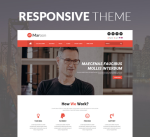 Justdnn Maroon 12 Color Responsive Theme / Business / Mega / Mobile / eCommerce / DNN9