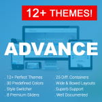 Advance / 12+ Themes / 30 Colors / Unique / Bootstrap / Mega Menu / DNN 6.x 7.x, 8.x & DNN 9.x