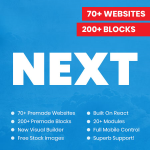 NEXT / 70+ Websites / 200+ Blocks / 20+ Modules / New Visual Builder / Full Mobile Control and more