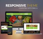 BD010 Yellow Green Organic Theme / Food / Fresh / Fruit / Restaurant / Slider / Store / DNN9