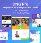 DNGPro Unlimited Responsive Multi-Purpose DNN Theme (V4.0.0) / Drag & drop builder / 24 designs