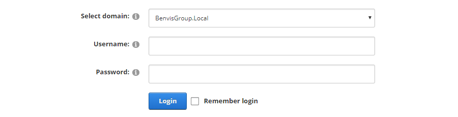 Login with domain
