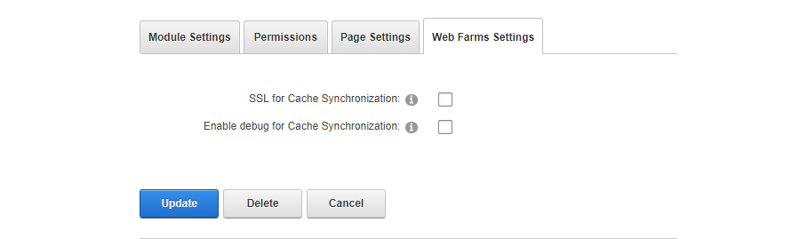 Web Farms Settings