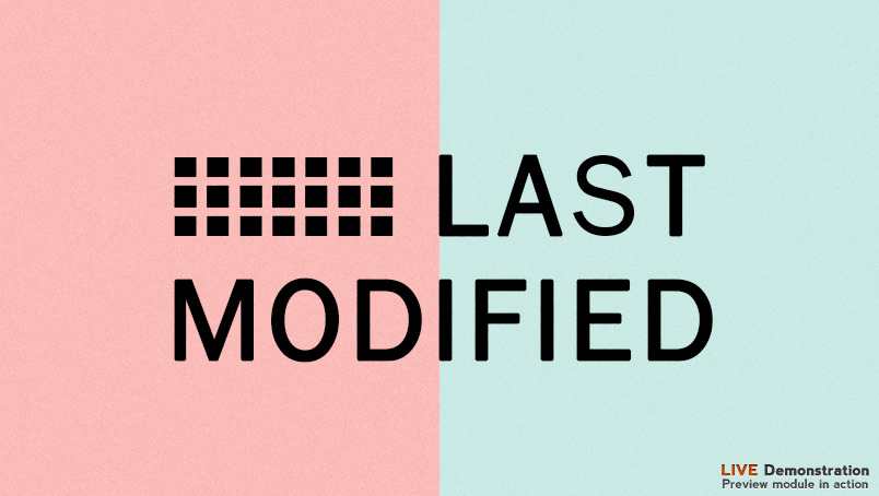 last modified date module