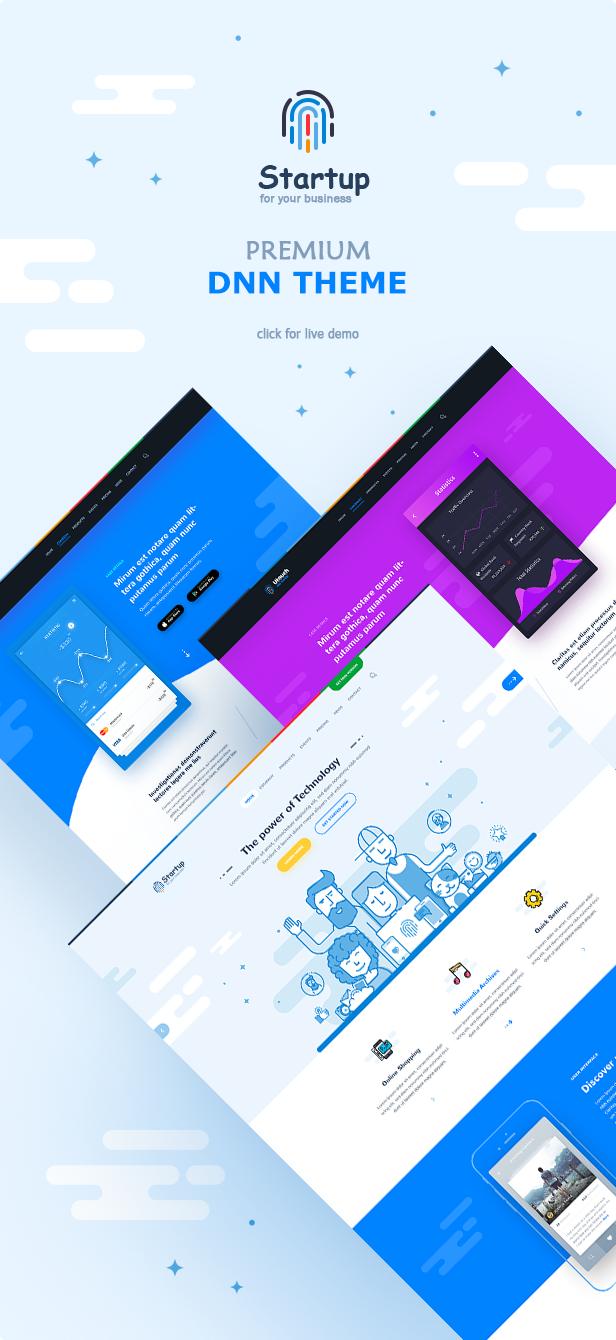 startup dnn theme
