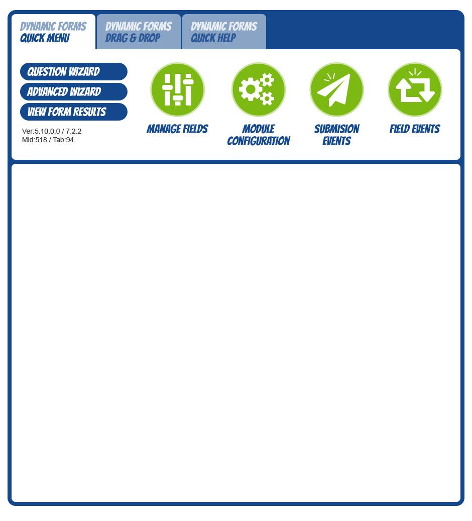 Dynamic Forms - DotNetNuke Forms Module