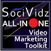 SociVidz All-In-One Video Marketing Software. Website Banner size: 100x100px