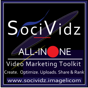 SociVidz Video Marketing Logo. Medium Size Square Format. Image size: 300x300px