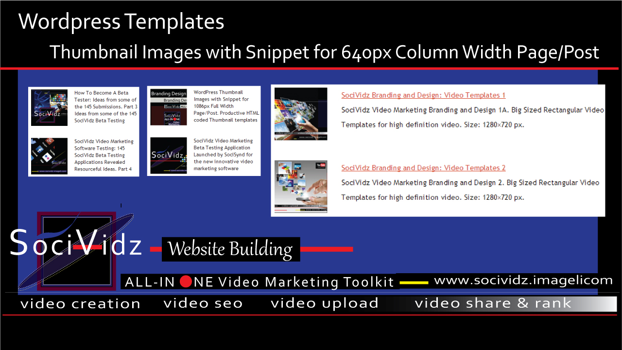WordPress Templates: Thumbnail Images with Snippet for 640px Column Width Page/Post featured image