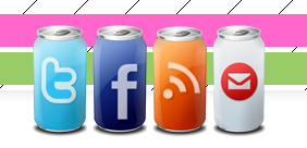 Creative design of social media buttons