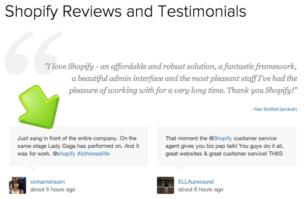 Building trust with Twitter testimonials