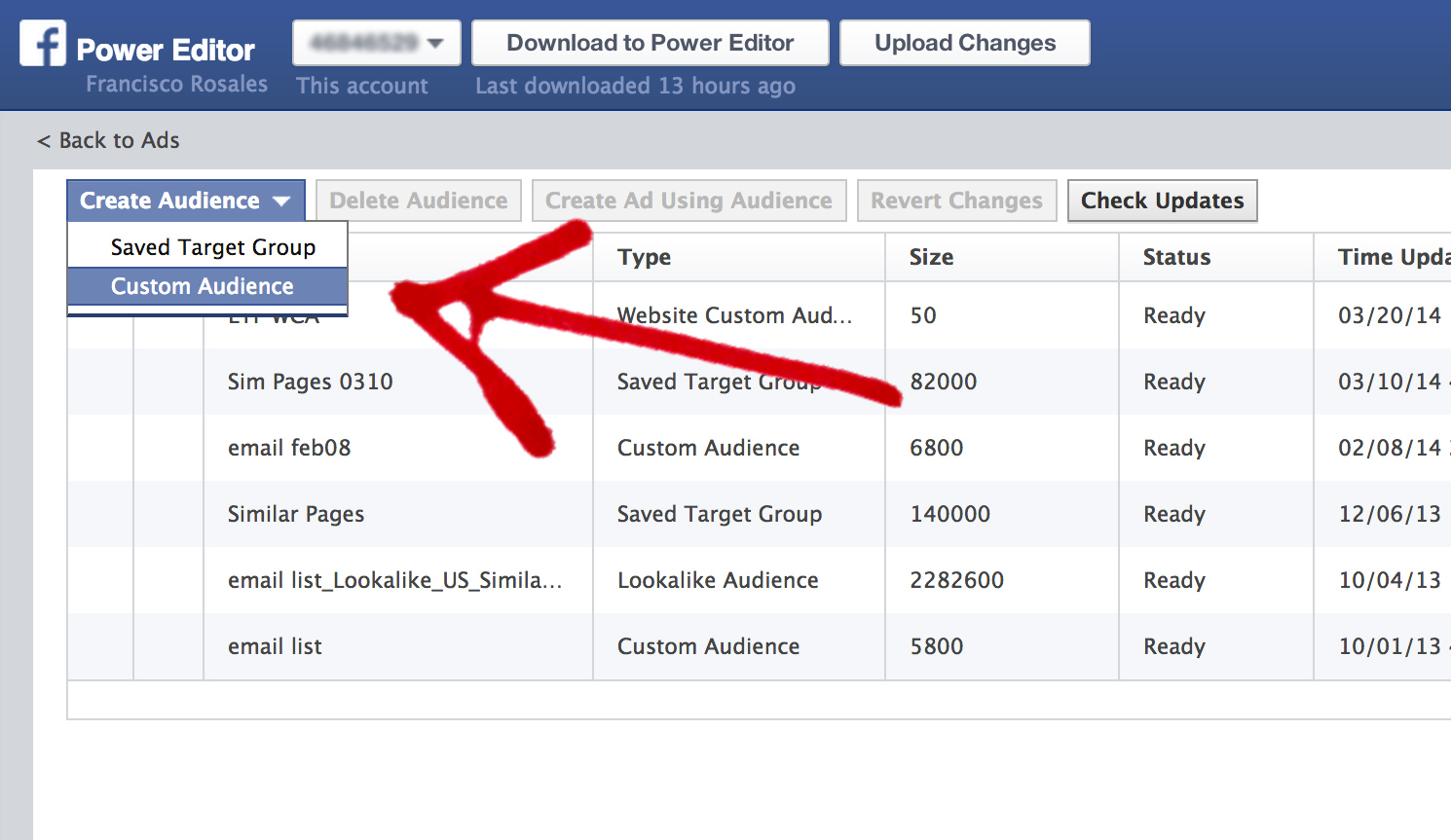 Create a Facebook Custom Audience