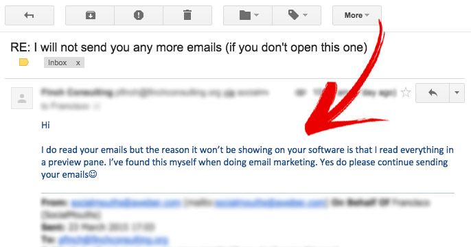 Dump your email subscribers - response