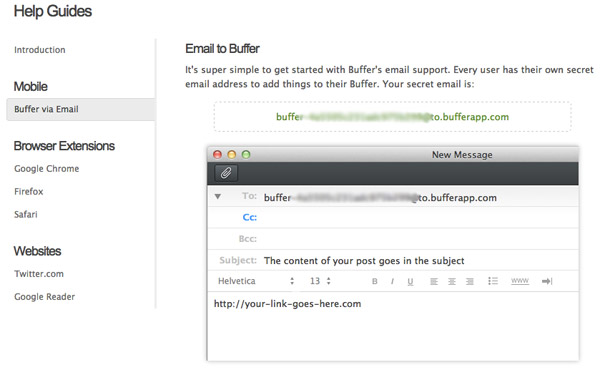 How to send tweets to Buffer via email
