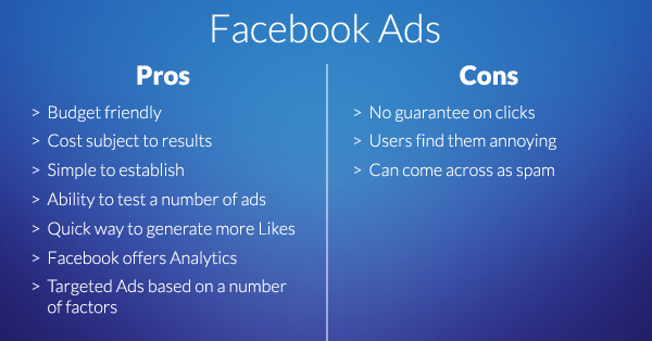 Facebook Ads pros and cons