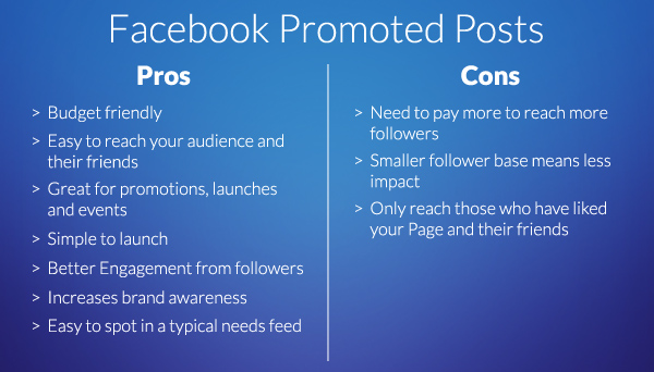 Facebook Promoted Posts pros and cons