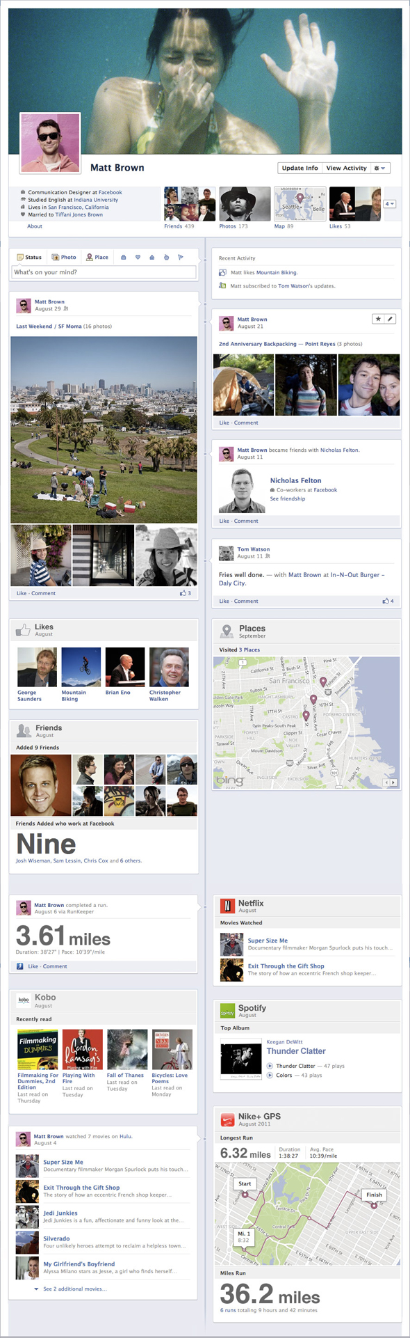 This is how the Facebook Timeline will look like