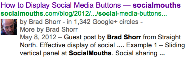 Google Authorship makes you look better in SERPs