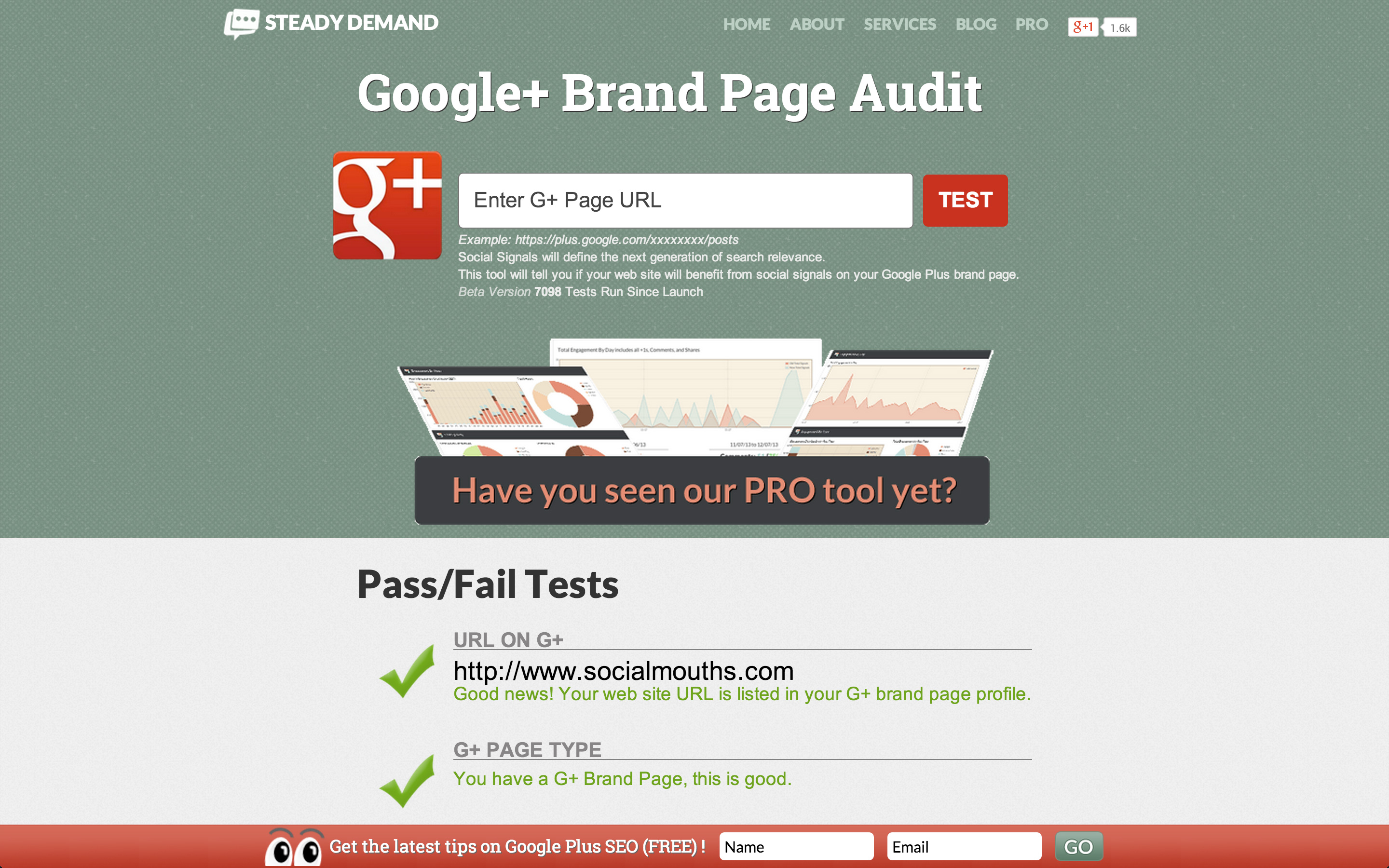 Google+ Brand Page Audit