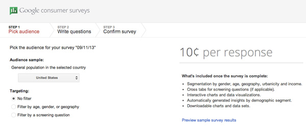 Google Customer Surveys