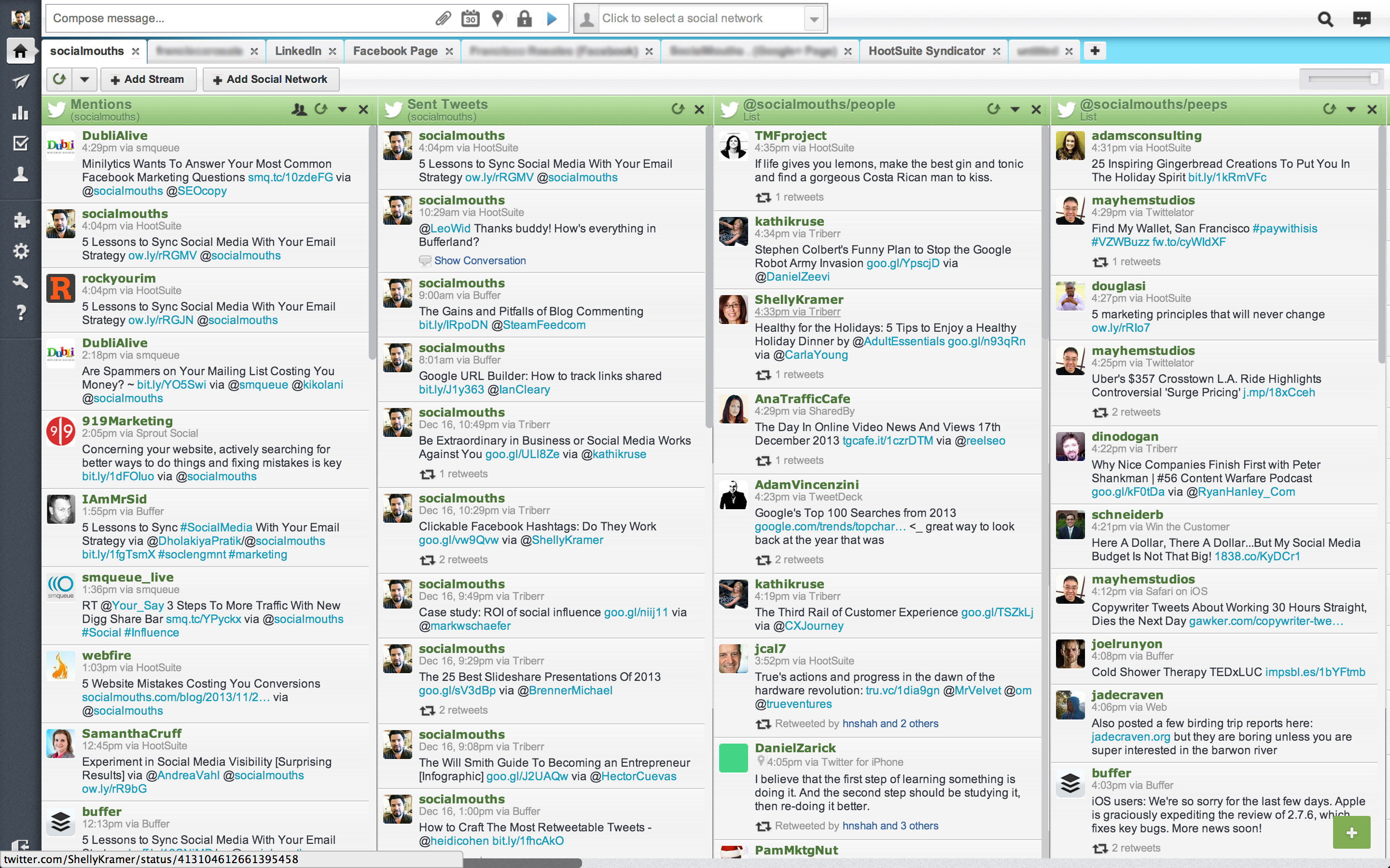 HootSuite Dashboard - Click on your profile photo on the left side panel