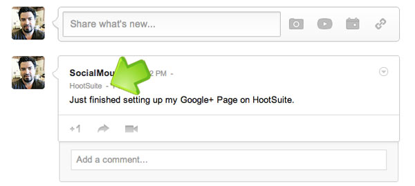 HootSuite and your Google+ Page connected