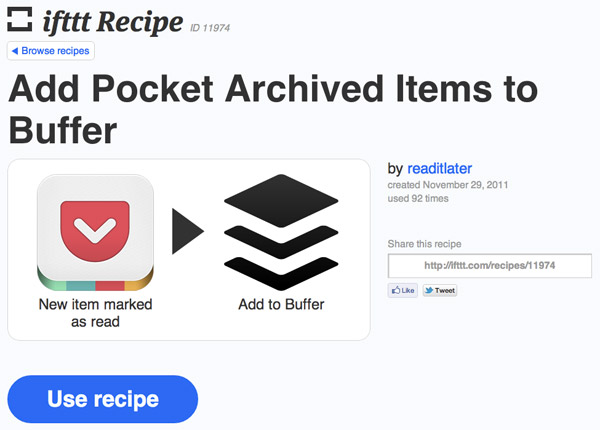 ifttt recipes to help you curate content
