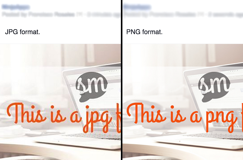 Comparing JPG vs. PNG on Facebook posts