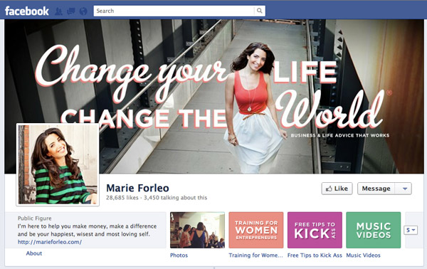 Marie Forleo on Facebook