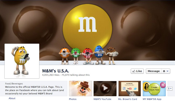 M&M on Facebook