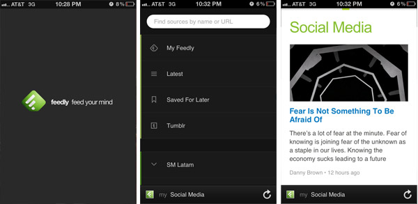 Feedly to curate content from your mobile device