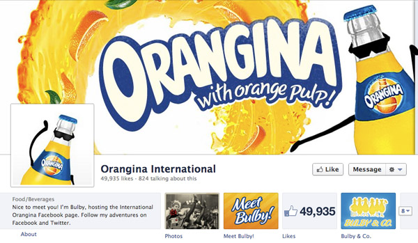 Orangina on Facebook