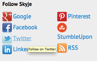 Social icons good positioning