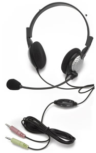 Noise Canceling Stereo Headset with Volu