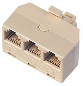 Triplex Adapter IVORY