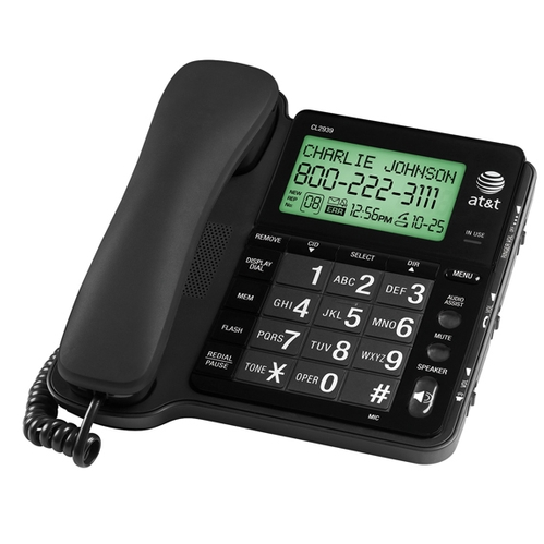 ATT Speakerphone with Large LCD BLACK