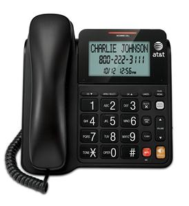 Corded Speakerphone with Display - BLACK