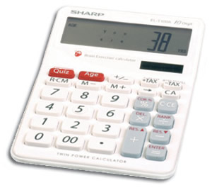 Sharp Brain Exerciser Calculator