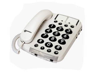 40db Amplified Telephone w/Voice Modulat