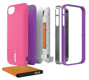 Mojo Vogue ip4 battery case WHITE