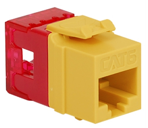 MODULE, CAT 6, HD, YELLOW