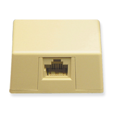 SURFACE MOUNT JACK 8P8C IVORY