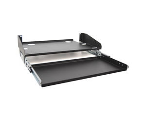 LCD MONITOR SHELF, SLIDING KEYBOARD TRAY