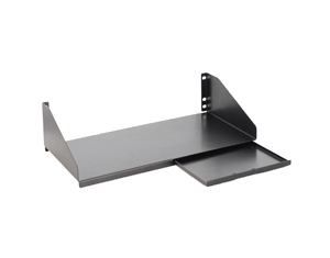 KEYBOARD SHELF WITH SLIDING MOUSE TRAY
