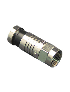 CONNECTOR, F-TYPE, RG6, 100PK