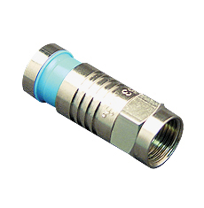CONNECTOR, F-TYPE, RG6Q, 100PK