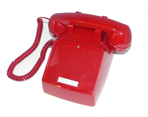 250047-VBA-NDL Red desk no dial